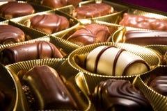 Gâteaux de bonbons de chocolat Images libres de droits