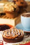 Gâteaux de café image libre de droits