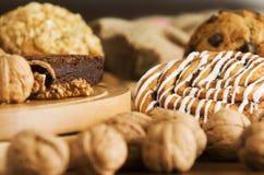 Gâteaux de café images libres de droits