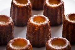 Gâteaux de Canele ou de Cannele Custand Photographie stock