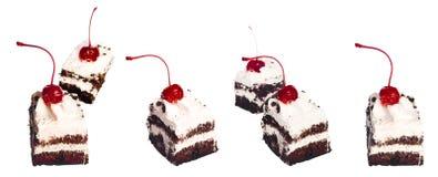 Gâteaux de cerise réglés image libre de droits