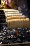 Gâteaux de cheminée de traitement au four Image stock