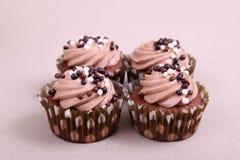 Gâteaux de chocolat Image stock