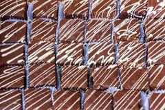 Gâteaux de chocolat avec du lait condensé photographie stock