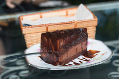 Gâteaux de chocolat délicieux Image libre de droits