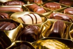Gâteaux de chocolat de bonbons Images stock