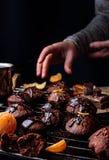 Gâteaux de chocolat faits maison Image libre de droits