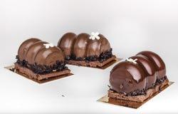 Gâteaux de chocolat savoureux sur la table Photographie stock