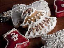 Gâteaux de Chrismas Photos libres de droits
