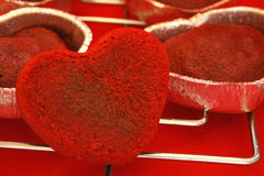 Gâteaux de coeur Photos libres de droits