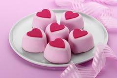 Gâteaux de coeur Photos stock
