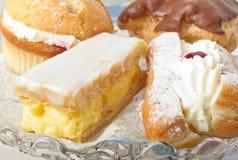 Gâteaux de crème Images libres de droits