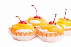 Gâteaux de crème Photos libres de droits