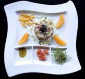 Gâteaux de crabe avec le caviar Image libre de droits