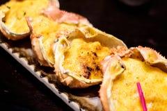Gâteaux de crabe japonais de nourriture Photos stock
