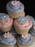 Gâteaux de cuvette photo stock