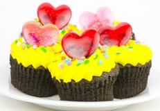 Gâteaux de cuvette de chocolat Photos libres de droits