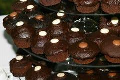 Gâteaux de cuvette de chocolat Images libres de droits