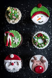 Gâteaux de décoration de Noël Photographie stock