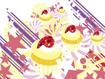 Gâteaux de dessert Photo stock