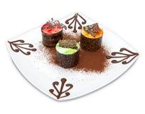 Gâteaux de fantaisie de cuvette Image stock