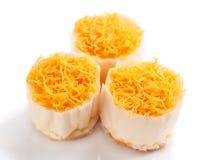 Gâteaux de fil de jaune d'oeuf d'or Photos libres de droits