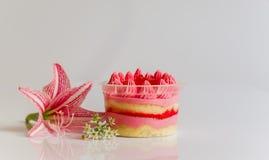 Gâteaux de fraise image stock
