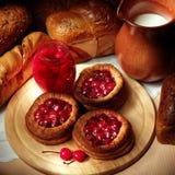 Gâteaux de fruit images libres de droits