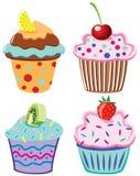 Gâteaux de fruit Photographie stock libre de droits