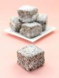 Gâteaux de Lamington Photo libre de droits