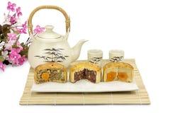 Gâteaux de lune, boulangerie de chinois traditionnel. images libres de droits