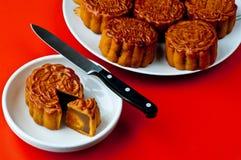 Gâteaux de lune chinois Photos stock