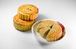 Gâteaux de lune chinois Photographie stock