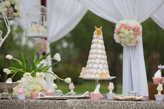 Gâteaux de mariage photos libres de droits