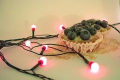Gâteaux de myrtille photos stock
