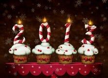 Gâteaux de Noël Photos stock