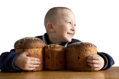 Gâteaux de Pâques d'Ukrainien Photographie stock libre de droits