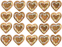 Gâteaux de pain d'épice de Noël Image stock