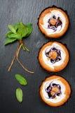 Gâteaux de petits pains de myrtille Images libres de droits