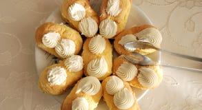 Gâteaux de plaque Images libres de droits