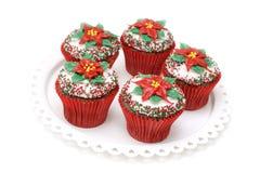 Gâteaux de poinsettia image stock