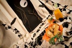Gâteaux de potiron de Halloween Photos stock