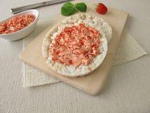 Gâteaux de riz avec du beurre de fraise Photo libre de droits