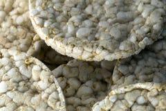 Gâteaux de riz bio Photographie stock libre de droits