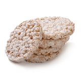 Gâteaux de riz d'isolement sur le blanc Photo libre de droits