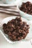 Gâteaux de riz de chocolat Image stock