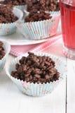 Gâteaux de riz de chocolat Photos libres de droits