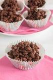 Gâteaux de riz de chocolat Photographie stock