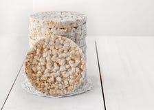 Gâteaux de riz ronds Images libres de droits