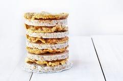 Gâteaux de riz ronds et gâteaux de maïs Image libre de droits